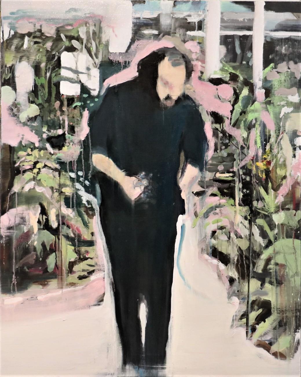 Nico Vaerewijck, #Artis, 80x100 cm, oil on linen,  2018